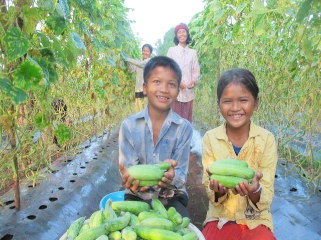 Community people enjoy growing vegetables