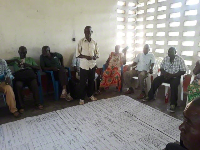 Evaluation session with the community