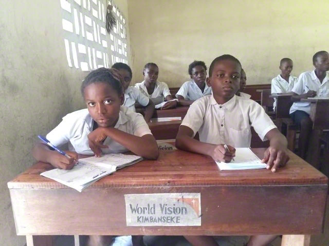 WV Support with benches to the primary school
