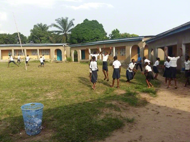 A primary school built by World Vision support