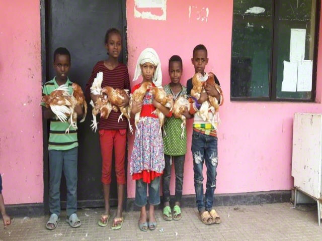 The most vulnerable children provided poultry