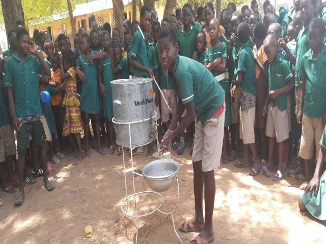 Proper hand washing in schools