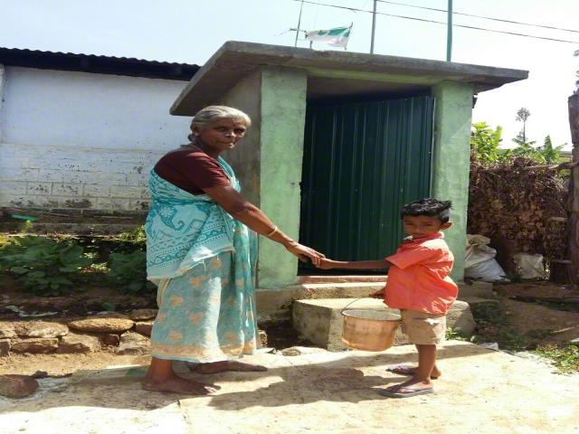 Benefitted with the Latrine Project